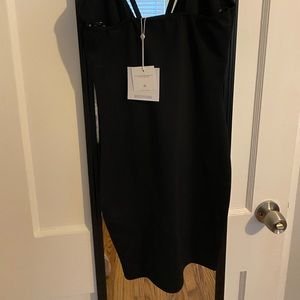 Miss guided black body con dress